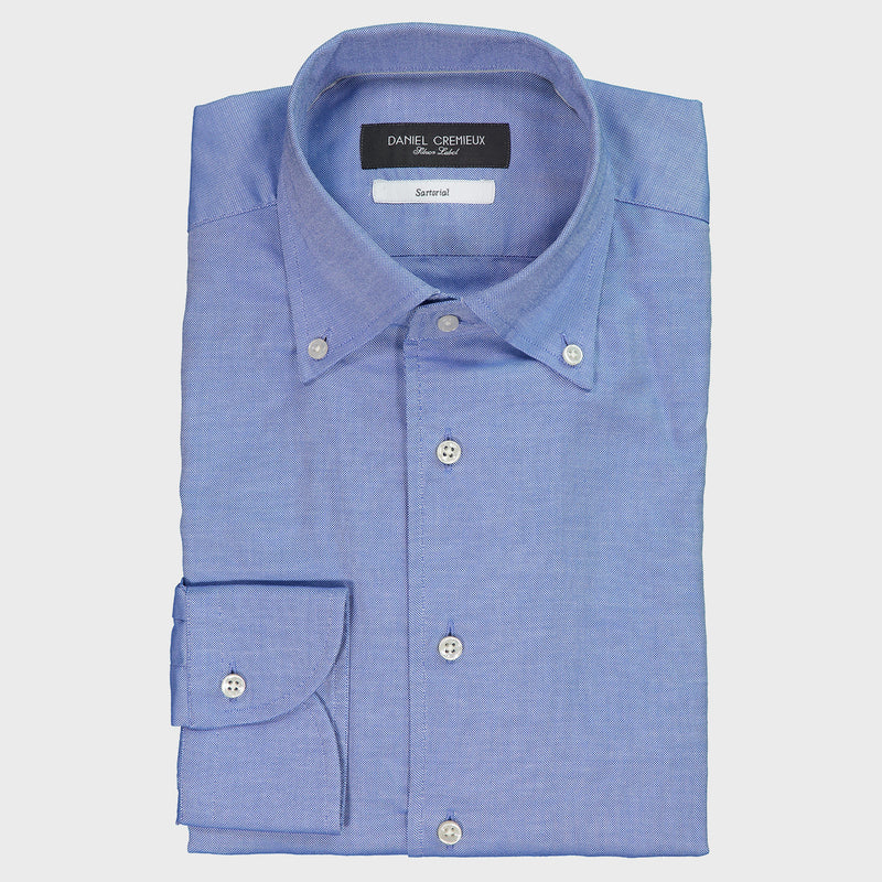 LUXURY PINPOINT ONE PIECE BUTTON DOWN COLLAR SHIRT