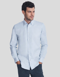 LUXURY ROYAL TWILL ONE PIECE BUTTON DOWN COLLAR SHIRT