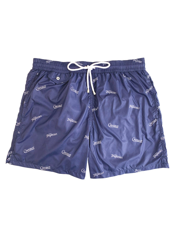 BOND LUXURY TROPEZIEN PRINT ELASTICATED WAIST SWIM SHORT