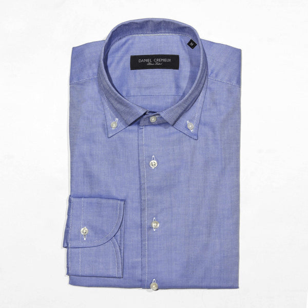 LAPO LUXURY PINPOINT OXFORD ONE PIECE SPREAD COLLAR SHIRT