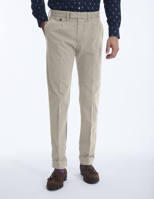 COTTON STRETCH BOAT CHINO