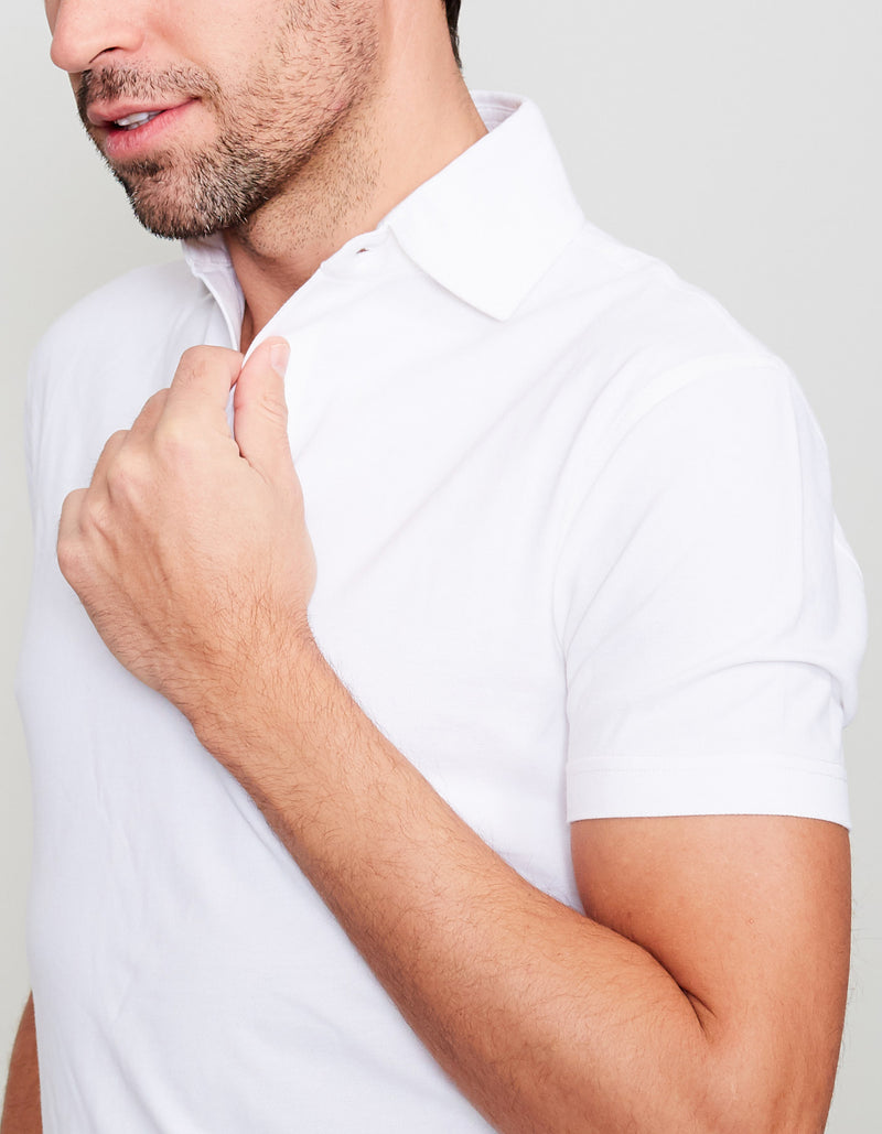 WHITE SUPIMA COTTON POLO