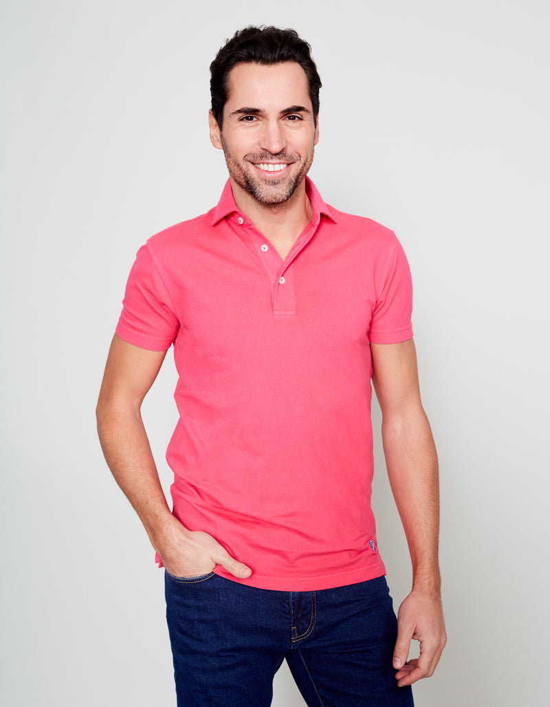 PINK SUPIMA COTTON PIQUE POLO