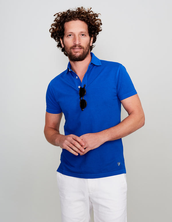 ROYAL BLUE SUPIMA COTTON POLO