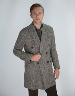 DEVILLE TWEED WOOL OVERCOAT