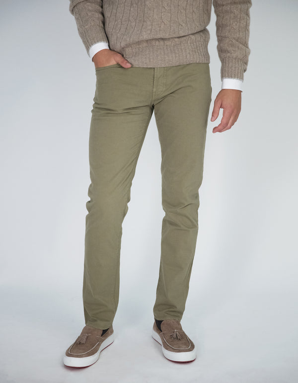 MILAN 5 POCKET GARMENT DYED PANTS