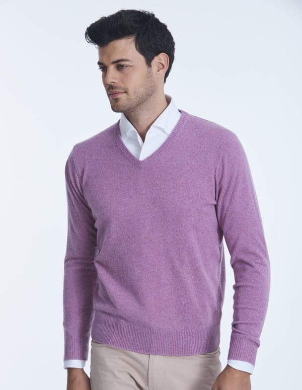 CARTER 12GG SCOTTISH CASHMERE V-NECK SWEATER
