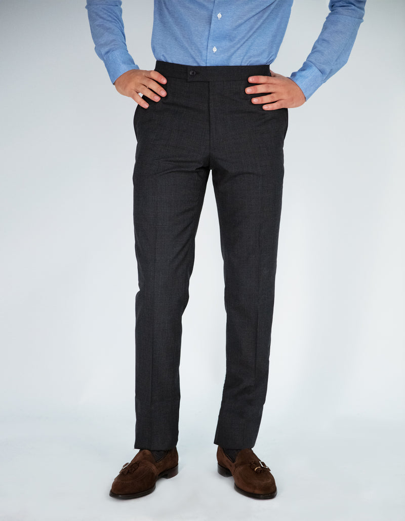 FRATELLO WOOL SIDE TABS DRESS TROUSERS