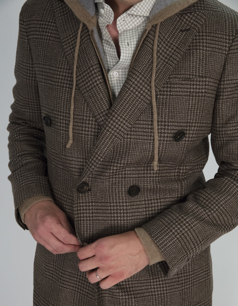 BRERA GLEN PLAID OVERCOAT