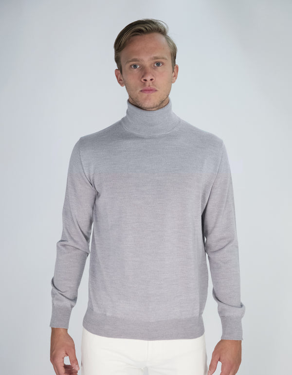 EXTRA FINE MERINO WOOL TURTLENECK SWEATER