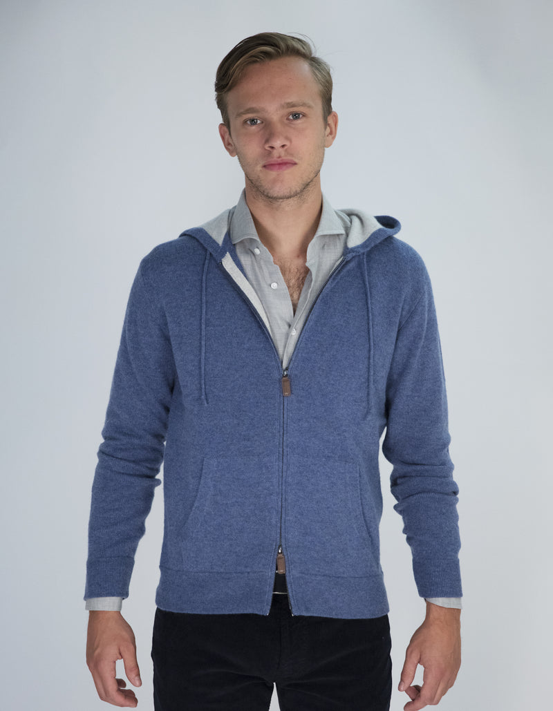 100% CASHMERE HOODIE