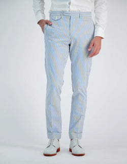 BOAT COTTON SEERSUCKER STRIPE PANTS
