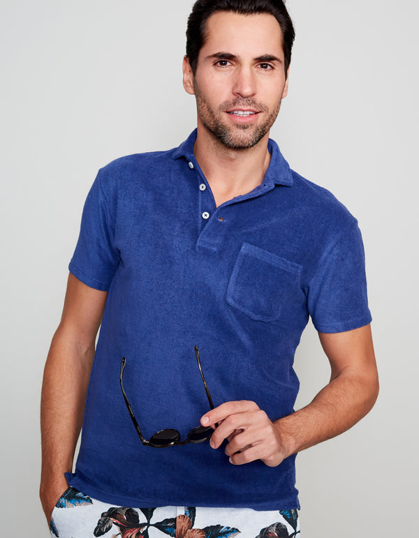 NAVY TERRY POLO