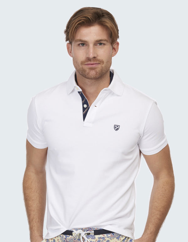 COTTON STRETCH DOUBLE COLLAR POLO