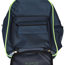 Load image into Gallery viewer, Lime Tree Back Pack showing detachable Pencil Case within front compartment