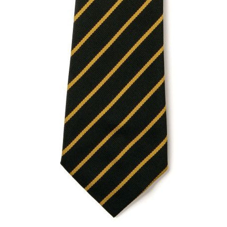 Navy & Gold Striped School Tie | Elastic or 39