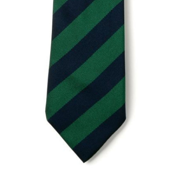 Green and Navy Striped School Tie