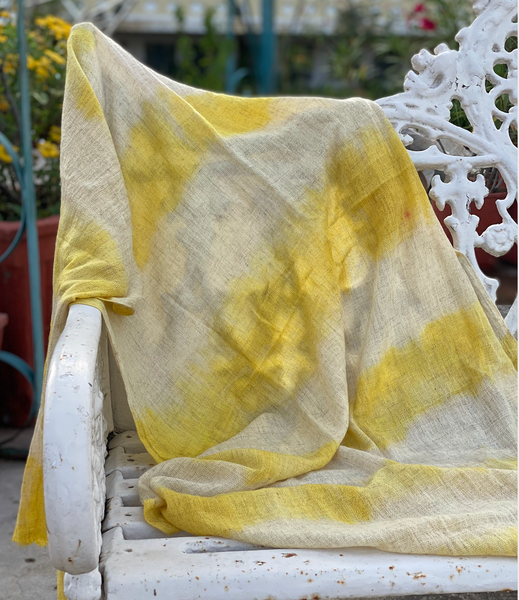 Marigold Vegetable Hand Dyed Wool Stole