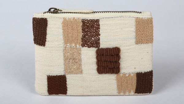 Square Patterned Money Pouch