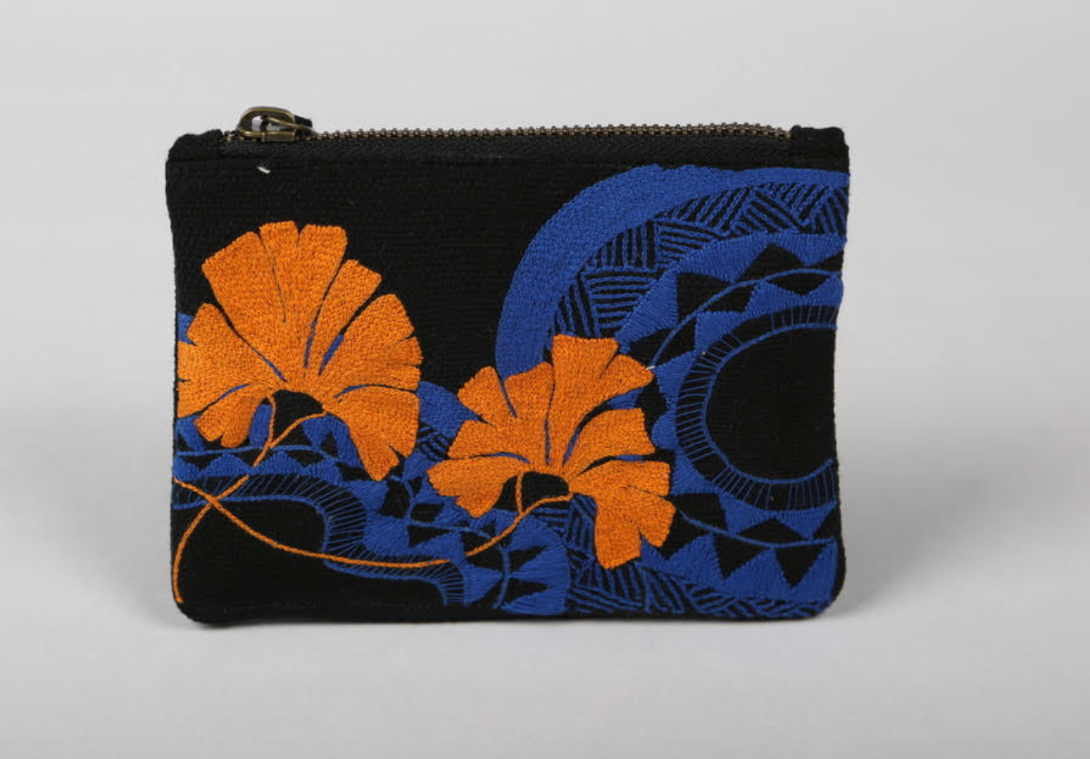 GeoFloral Patterned Money Pouch