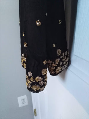Black Trouser with Dapka embroidery