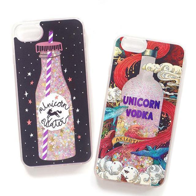 outlet store f8b2f 6154d Unicorn Water Glitter Phone Case