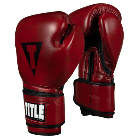 TITLE Blood Red Leather Training Gloves