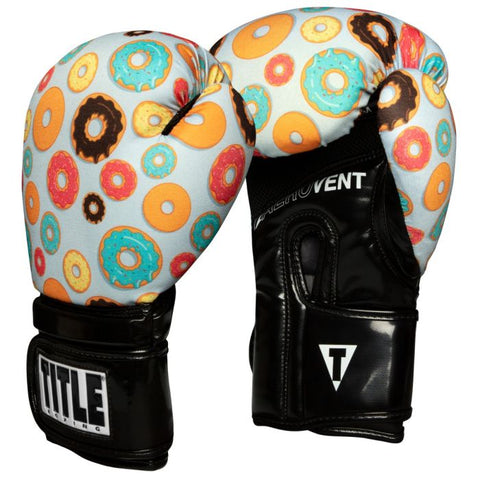 TITLE Boxing Infused Foam Donut Print Training Gloves