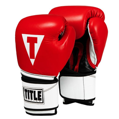 TITLE Premium Leather Performance Training Gloves