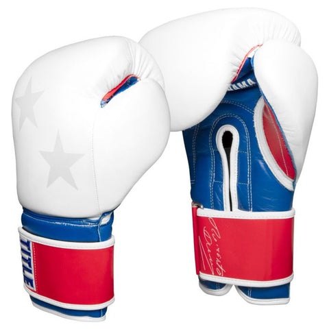 TITLE Roberto Duran Limited Leather Bag Gloves