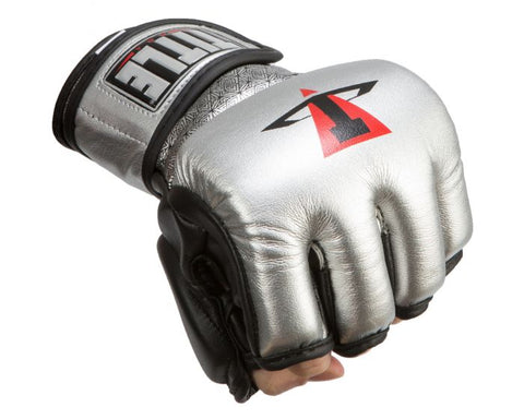 TITLE MMA Menace Metallic Training Gloves - SILVER/BLACK