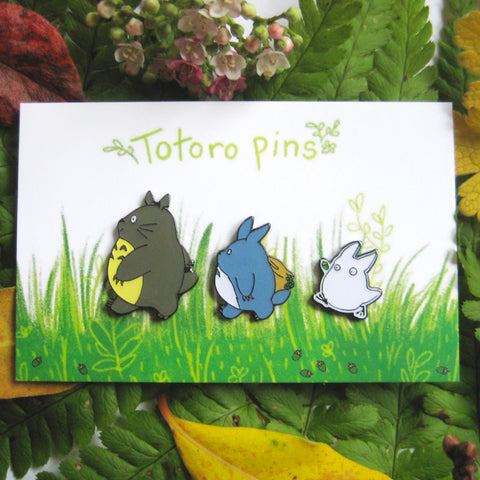 My Neighbour Totoro inspired 3 Enamel Pin Set