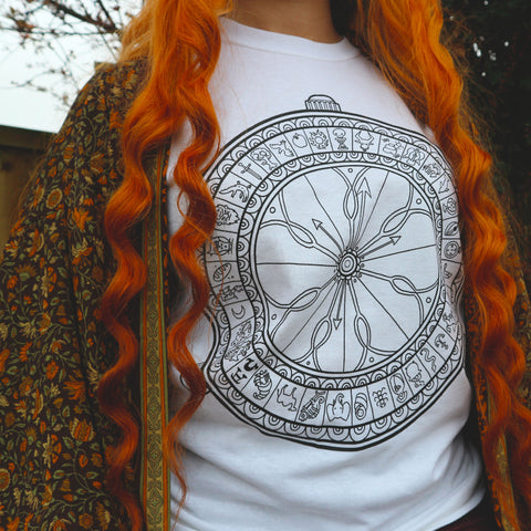 His Dark Materials, Alethiometer inspired Screen Printed T-Shirt