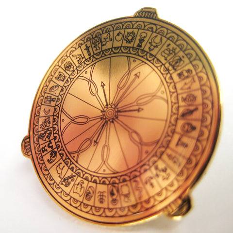 His Dark Materials, Alethiometer/Golden Compass inspired fan Enamel Pin