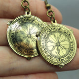 Alethiometer inspired fan Enamel Earrings