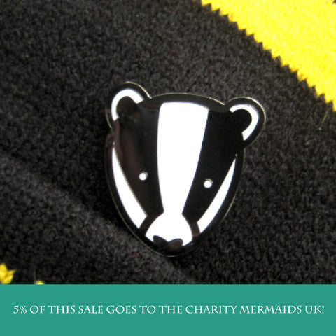 Cute Badger enamel pin
