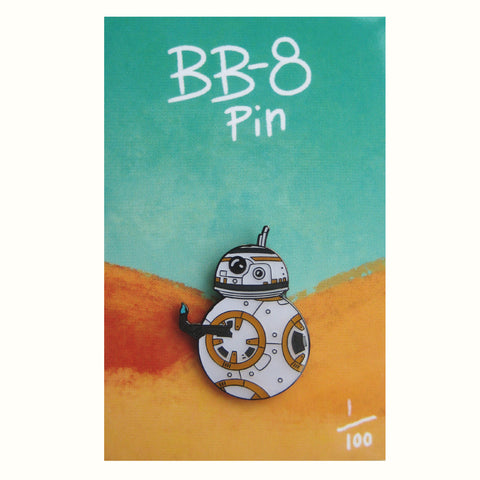 BB-8 inspired fan Enamel Pin