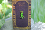 Alternate black background, Bowtruckle inspired fan Enamel Pin