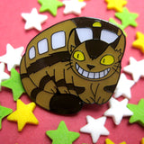 Catbus inspired fan Enamel Pin