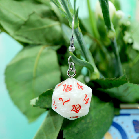 D20 Dice Earrings, Tabletop & D&D inspired!