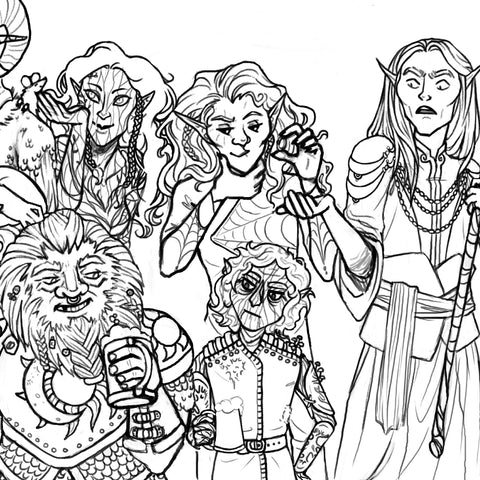 Dungeons and Dragons full Character Sketches