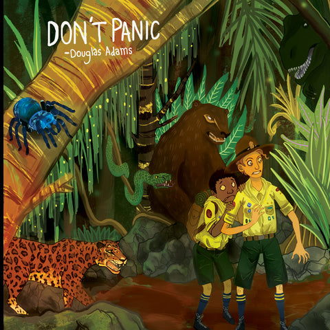 Don't Panic - Douglas Adams inspired A3 Print