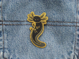Special 1st Anniversary Black & Gold colourway - Axolotl Iron on Patch