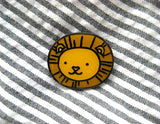 Cute Magical Houses - Lion Enamel Pin