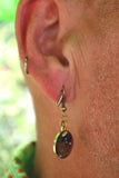 Golden Pangolin Enamel Earrings