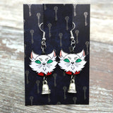 Abhorsen inspired fan Mogget the cat Earrings