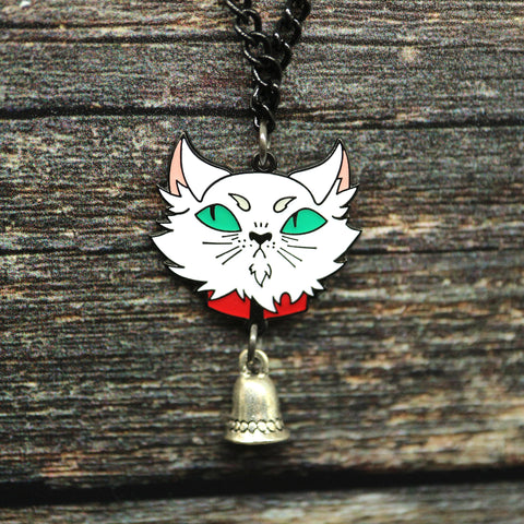 Abhorsen inspired Mogget the cat necklace
