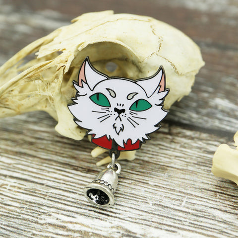 Abhorsen inspired Mogget the cat Enamel Pin