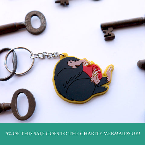 Niffler inspired fan PVC Keyring