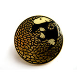 Golden Pangolin Enamel Pin